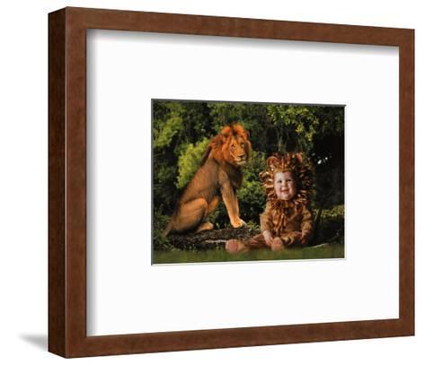 Imaginary Safari, Lion-Tom Arma-Framed Art Print