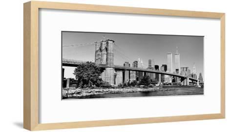 Brooklyn Bridge-Igor Maloratsky-Framed Art Print