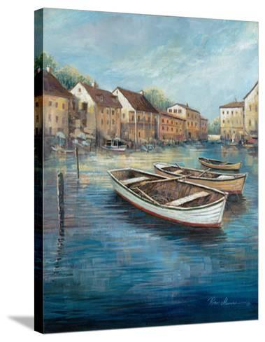 Tranquil Harbor I-Ruane Manning-Stretched Canvas Print