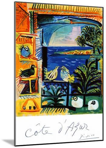 Cote d'Azur-Pablo Picasso-Mounted Giclee Print