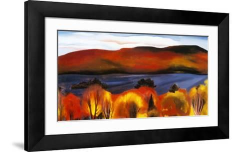 Lake George, Autumn, 1927-Georgia O'Keeffe-Framed Art Print