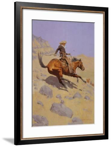 The Cowboy-Frederic Sackrider Remington-Framed Art Print
