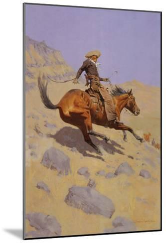 The Cowboy-Frederic Sackrider Remington-Mounted Art Print