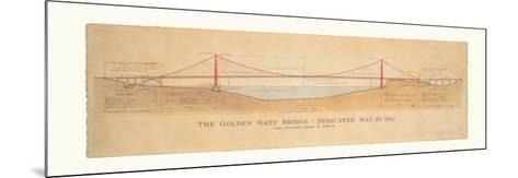 Golden Gate Bridge-Craig Holmes-Mounted Art Print