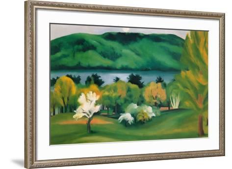 Lake George, Early Moonrise Spring, 1930-Georgia O'Keeffe-Framed Art Print