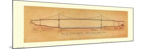 St. Johns Bridge-Craig Holmes-Mounted Art Print