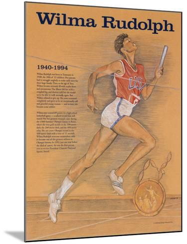 Great American Women - Wilma Rudolph--Mounted Art Print