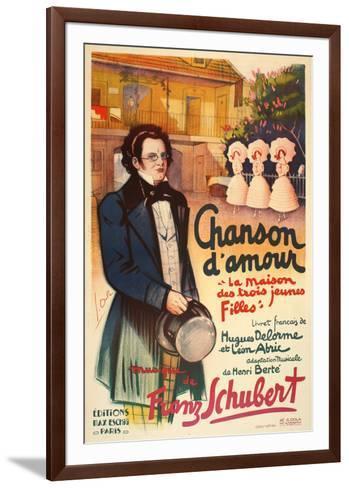 Chanson d'Amour (c.1926)-Georges Dola-Framed Art Print