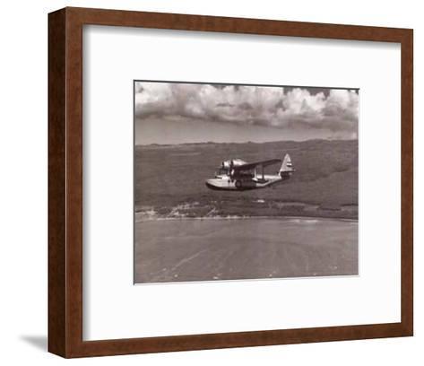 Inter-Island Airways, Sikorsky S-43, Kaunakakai, Molokai, Hawaii, 1936-Paul Sidney Grade-Framed Art Print