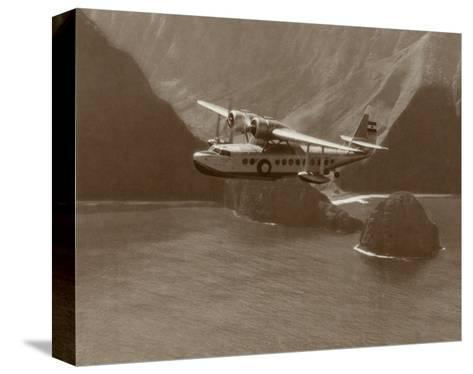 Inter-Island Airways, Sikorsky S-43, North Shore, Molokai, Hawaii, 1937-Paul Sidney Grade-Stretched Canvas Print