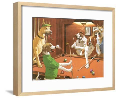 The Scratching Beagle-Arthur Sarnoff-Framed Art Print