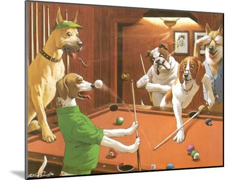 The Scratching Beagle-Arthur Sarnoff-Mounted Art Print