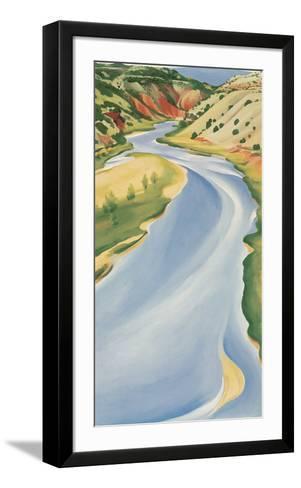 Blue River-Georgia O'Keeffe-Framed Art Print