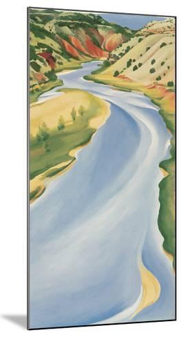 Blue River-Georgia O'Keeffe-Mounted Art Print
