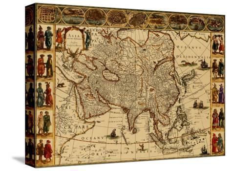 Antique Maps III-Willem Janszoon Blaeu-Stretched Canvas Print