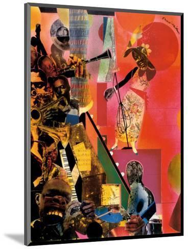 The Blues-Romare Bearden-Mounted Art Print