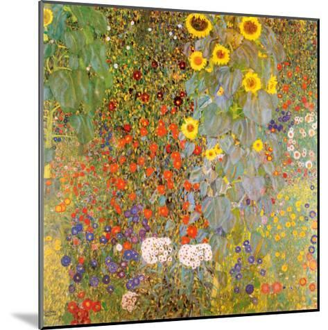 Country Garden with Sunflowers-Gustav Klimt-Mounted Art Print