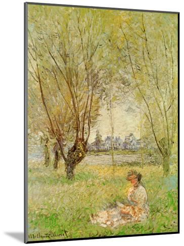 Woman Under the Willows-Claude Monet-Mounted Art Print