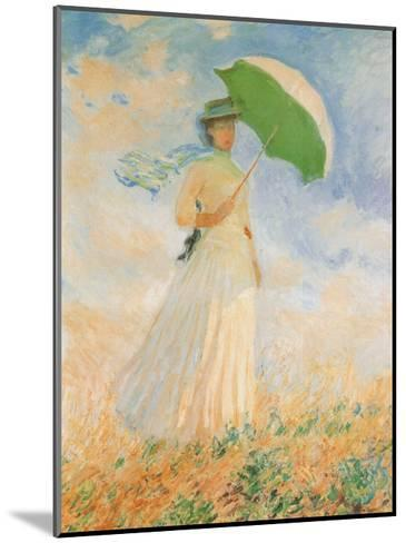 Woman with Parasol-Claude Monet-Mounted Art Print