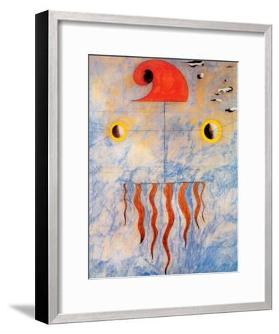 Tete de Paysan Catalan, c.1925-Joan Mir?-Framed Art Print