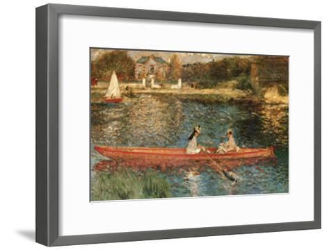 The Seine at Asnieres-Pierre-Auguste Renoir-Framed Art Print