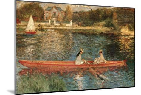 The Seine at Asnieres-Pierre-Auguste Renoir-Mounted Art Print