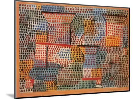 Kreuze und Saulen-Paul Klee-Mounted Art Print