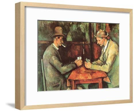 Card Players, c.1890-Paul C?zanne-Framed Art Print