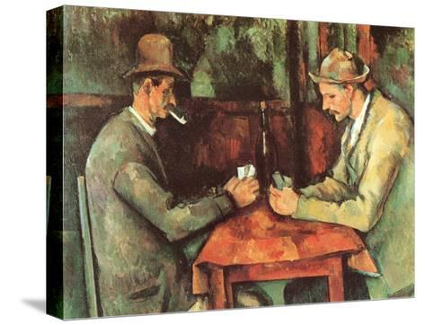 Card Players, c.1890-Paul C?zanne-Stretched Canvas Print