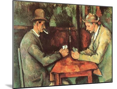 Card Players, c.1890-Paul C?zanne-Mounted Art Print