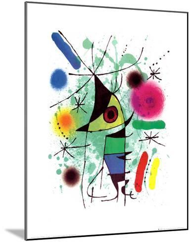 The Singing Fish-Joan Mir?-Mounted Art Print