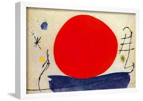 The Red Sun-Joan Mir?-Framed Art Print