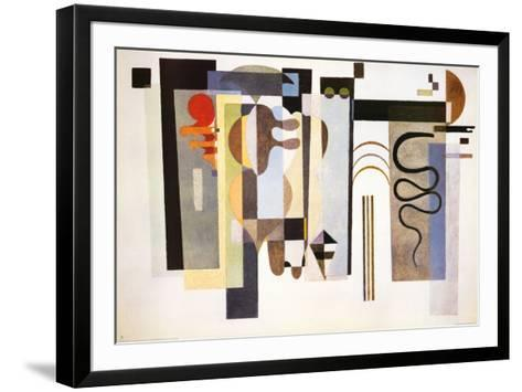 Two Green Points-Wassily Kandinsky-Framed Art Print