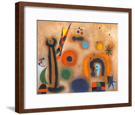 Libelle Mit Roten Flugeln Eine Schlange Jagend-Joan Mir?-Framed Art Print