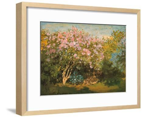 Blossoming Lilac in the Sun, c.1873-Claude Monet-Framed Art Print