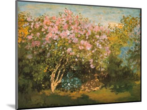 Blossoming Lilac in the Sun, c.1873-Claude Monet-Mounted Art Print