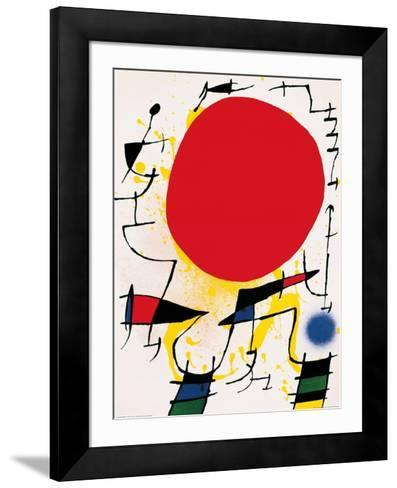 The Red Sun-Joan Mir?-Framed Art Print