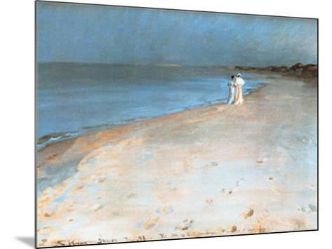 Summer Evening at the South Beach, Skagen, c.1893-Peder Severin Kr?yer-Mounted Art Print