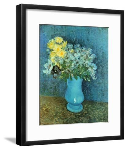 Vase of Lilacs, Daisies and Anemones, c.1887-Vincent van Gogh-Framed Art Print