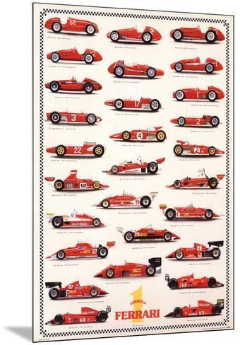 Ferrari Formula I - International Edition--Mounted Art Print