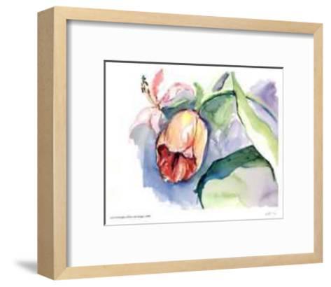 Tulips with Purple-Lynn Donoghue-Framed Art Print
