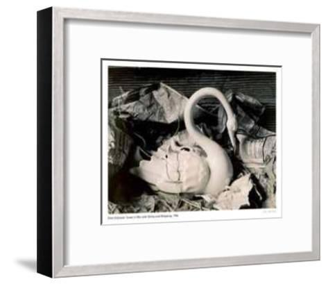 Swan in Box with String and Wrapping-Rick Zolkower-Framed Art Print