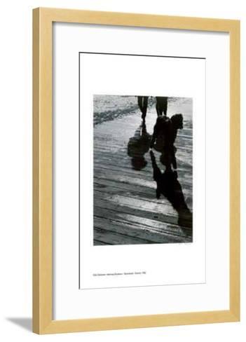 Walking Shadows - Boardwalk, Toronto-Rick Zolkower-Framed Art Print