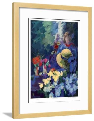 Flower Stall-Zora Buchanan-Framed Art Print