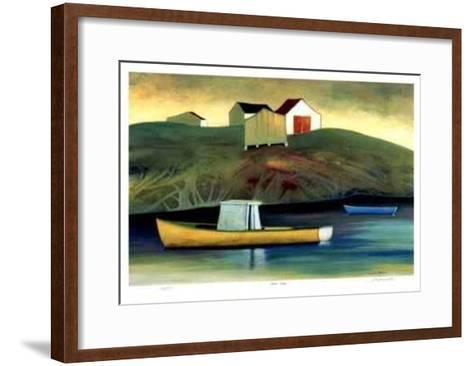 Blue Rocks-Carol Ann Shelton-Framed Art Print