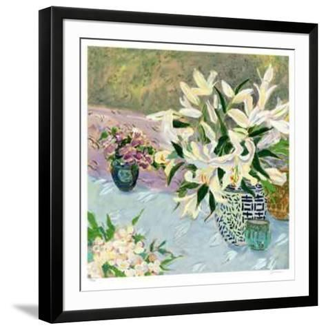 Still Life with Lilies II-Ellen Gunn-Framed Art Print
