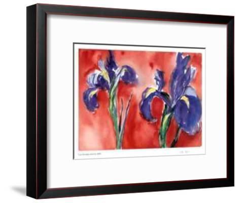 Red Iris-Lynn Donoghue-Framed Art Print