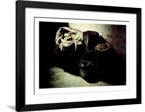 Winter Stockpile- Wylie-Framed Art Print