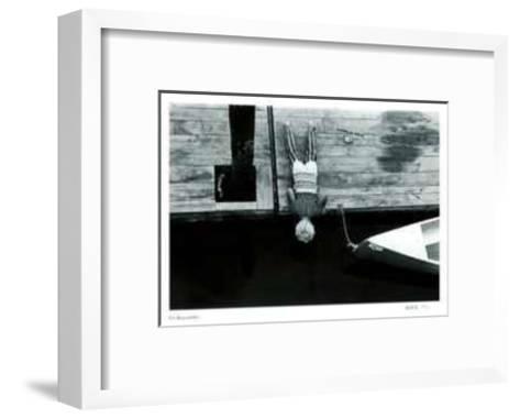 Untitled - Boy Looking in Water-B^ A^ King-Framed Art Print