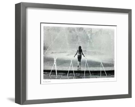 Untitled - Girl in Fountain-B^ A^ King-Framed Art Print